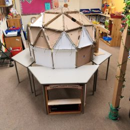 Geo-dome and puppet theatre